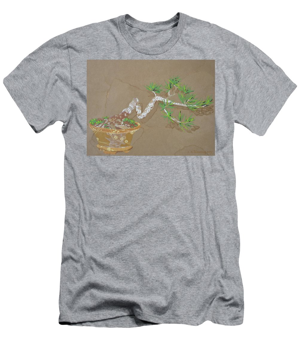 Banzai Tree Men's T-Shirt (Athletic Fit) featuring the painting For Inge by Leah Tomaino
