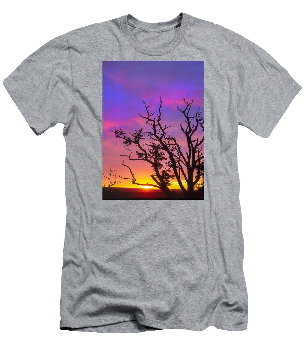 Garden Of The Gods Men's T-Shirt (Athletic Fit) featuring the photograph For The Love Of Sunrise by Bijan Pirnia