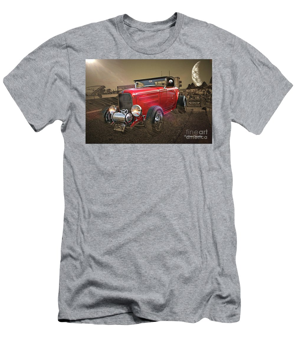 Cars Men's T-Shirt (Athletic Fit) featuring the photograph Ford Coupe Cartoon Photo Abstract by Randy Harris
