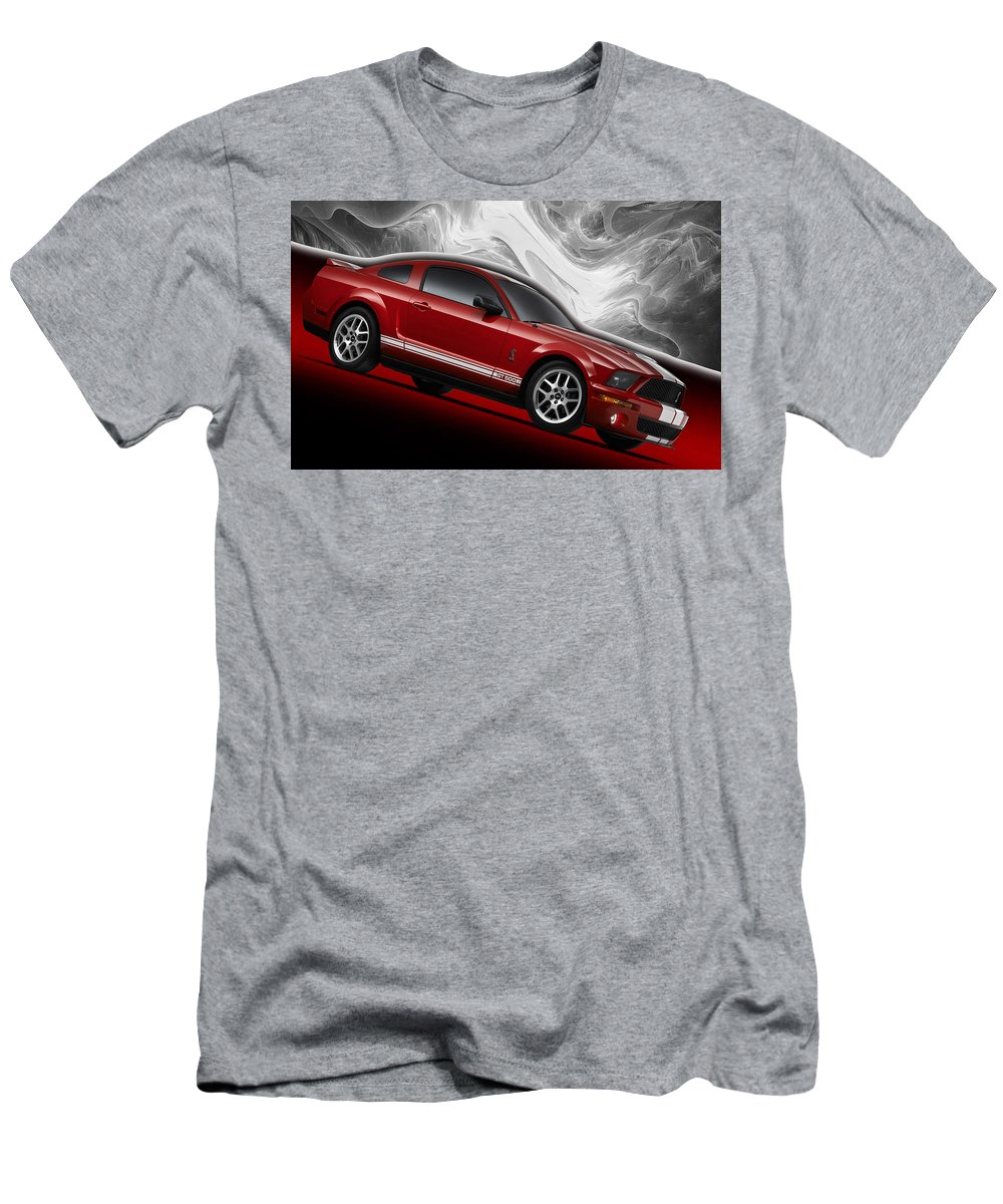 Ford Men's T-Shirt (Athletic Fit) featuring the photograph Ford Mustang Gt 500 3 by Manfred Lutzius