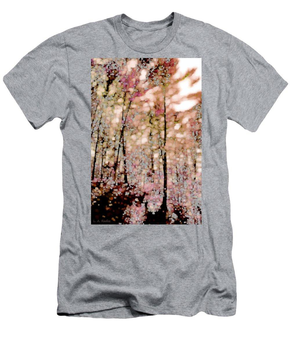 Landscape Men's T-Shirt (Athletic Fit) featuring the photograph Forest In Autumn by Lauren Radke