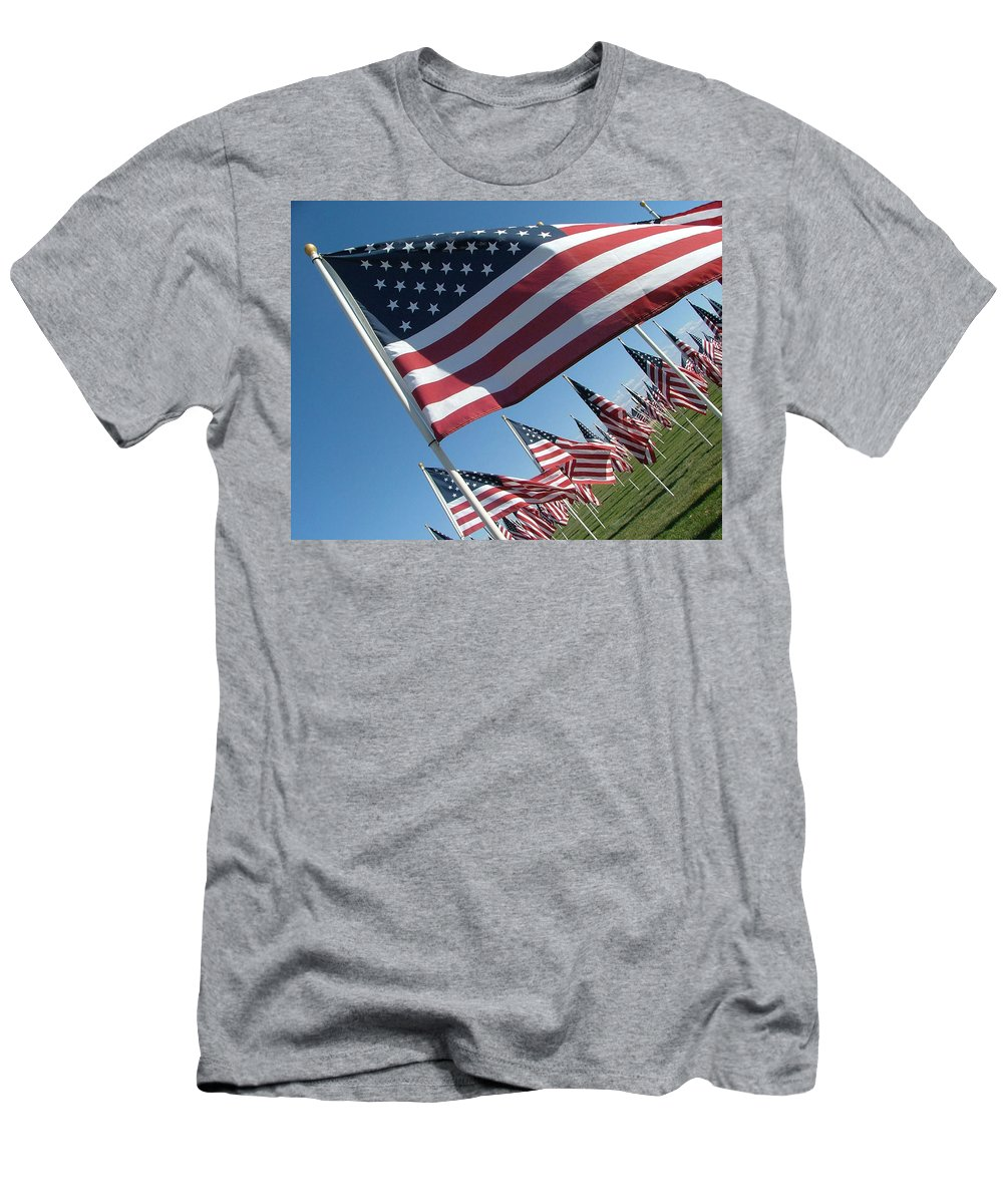 Flag Men's T-Shirt (Athletic Fit) featuring the photograph Forever Flags by Dawn Blair