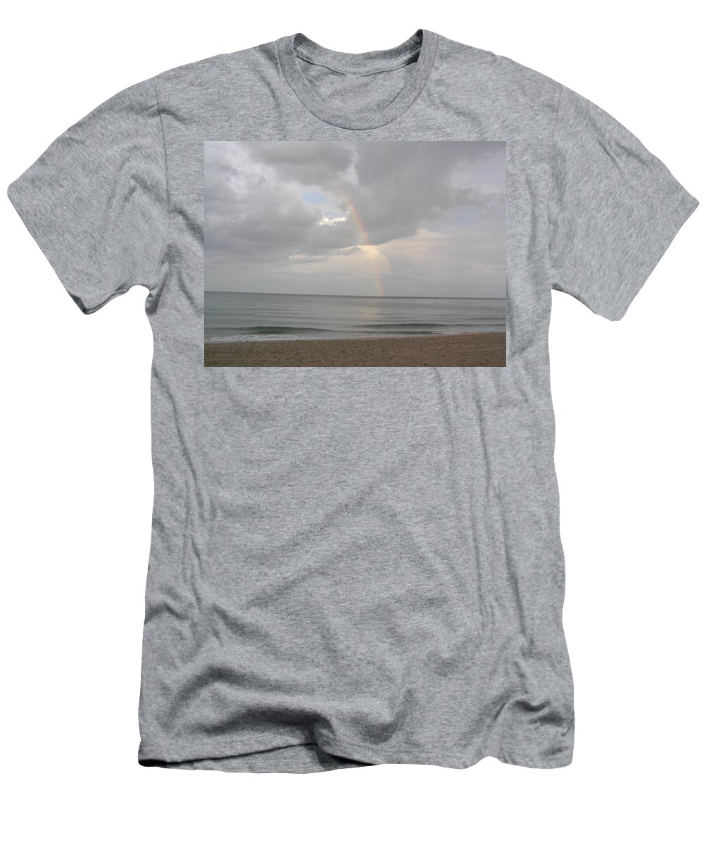Beach Men's T-Shirt (Athletic Fit) featuring the photograph Fort Lauderdale Rainbow by Patricia Piffath