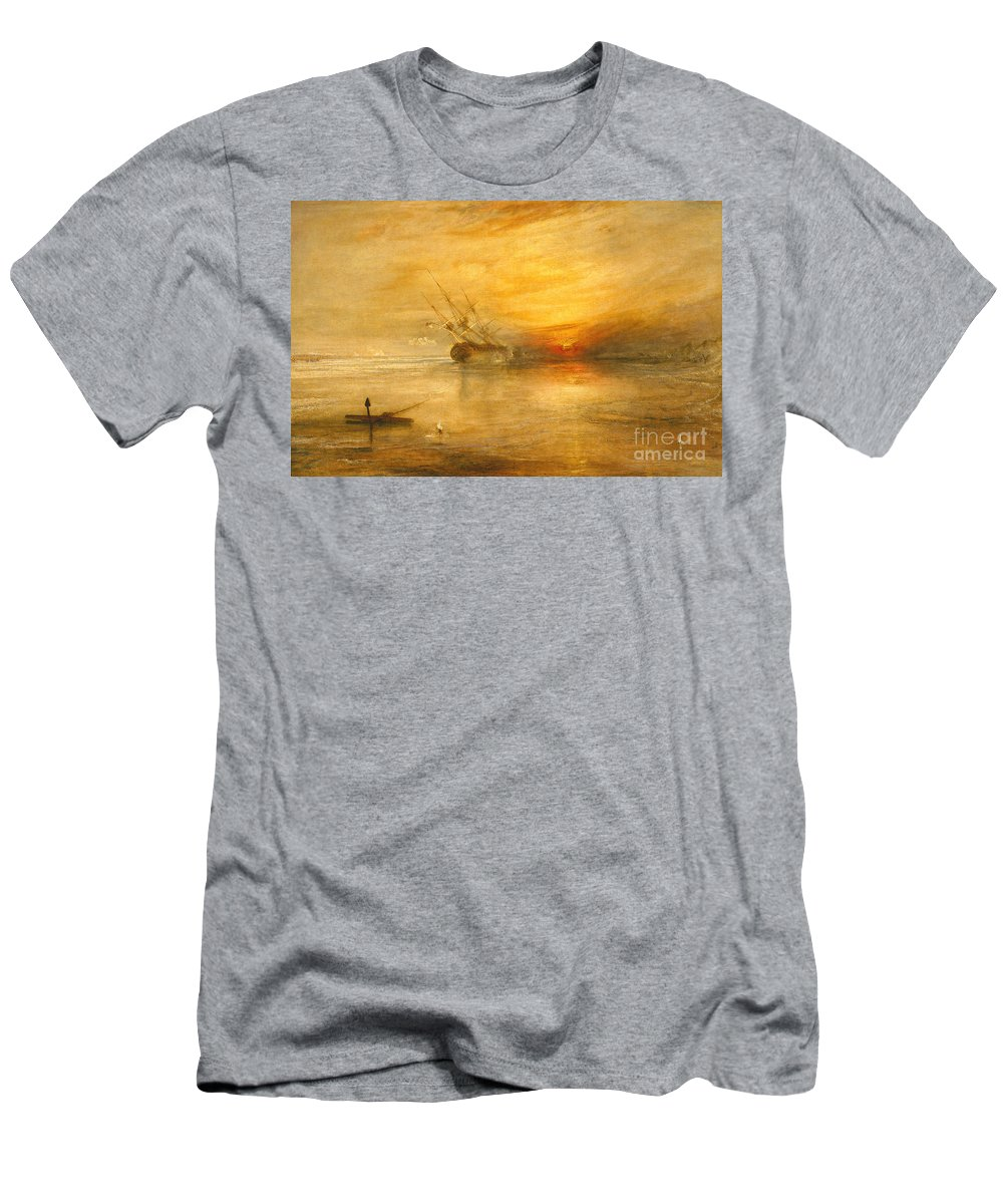 Fort Men's T-Shirt (Athletic Fit) featuring the painting Fort Vimieux by Joseph Mallord William Turner