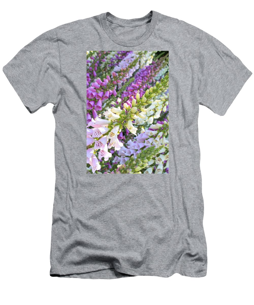 Card Men's T-Shirt (Athletic Fit) featuring the photograph Foxglove Card by Carol Groenen