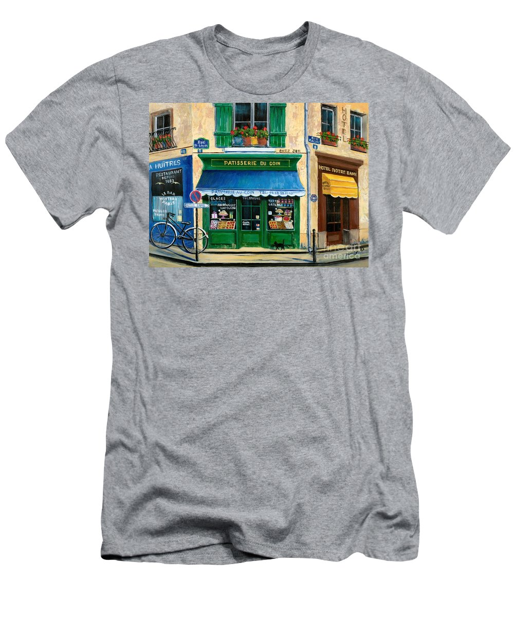 Paris Men's T-Shirt (Athletic Fit) featuring the painting French Pastry Shop by Marilyn Dunlap