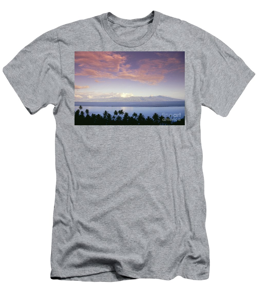 Blue Men's T-Shirt (Athletic Fit) featuring the photograph French Polynesia, Papeete by Joe Carini - Printscapes