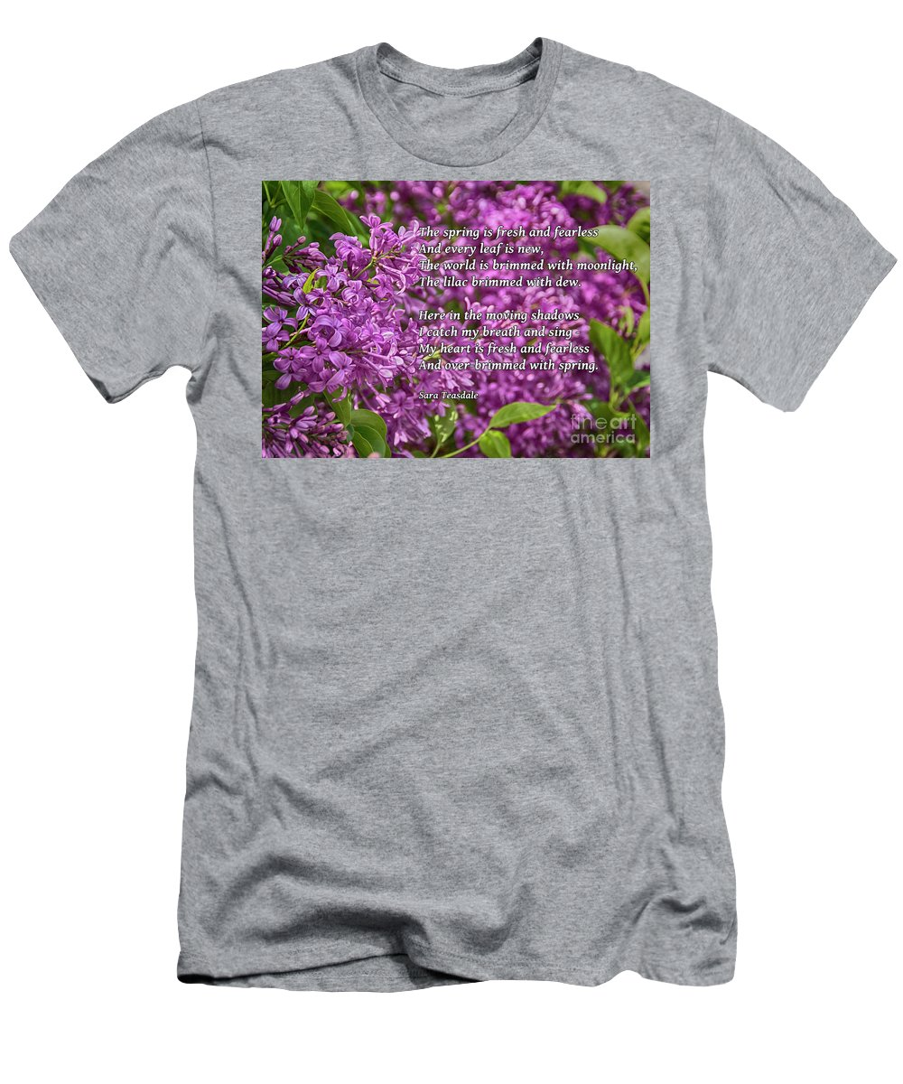 Lilac Men's T-Shirt (Athletic Fit) featuring the photograph Fresh And Fearless by Janice Pariza