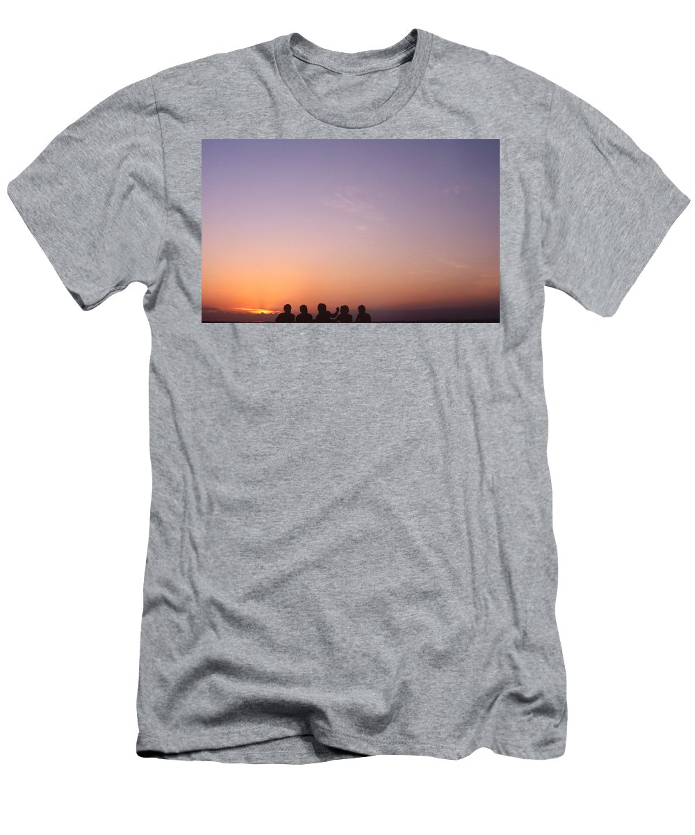 Bahia Men's T-Shirt (Athletic Fit) featuring the photograph Friends by Patrick Klauss