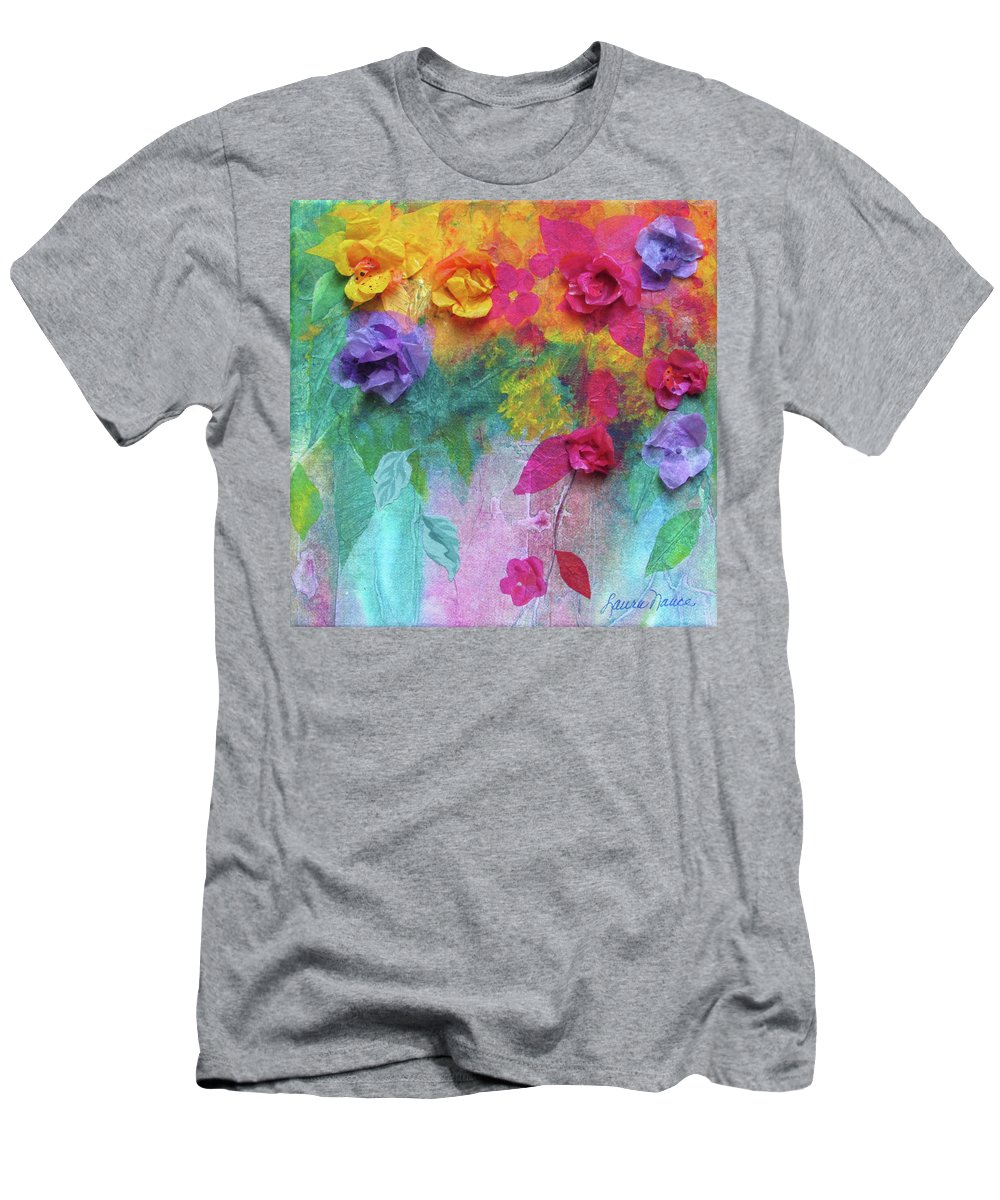 Bright Men's T-Shirt (Athletic Fit) featuring the painting From My Garden by Laura Nance