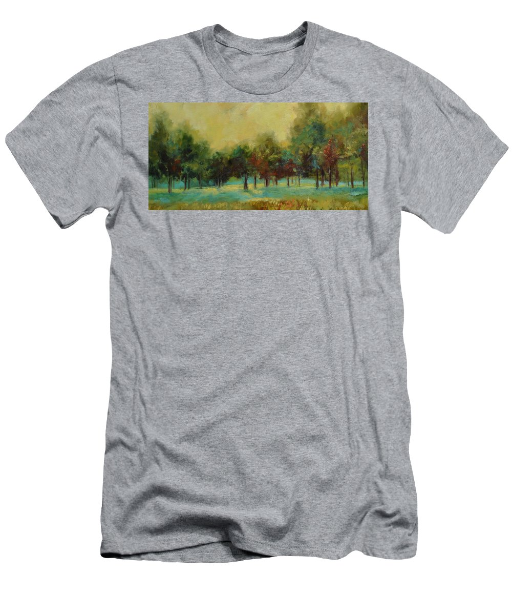 Pastoral Men's T-Shirt (Athletic Fit) featuring the painting From The Other Side II by Ginger Concepcion
