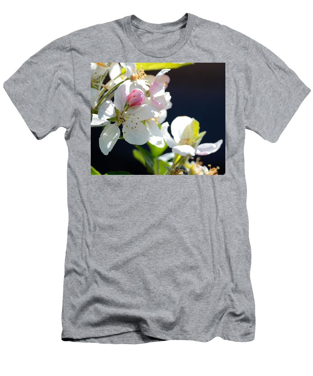 Fruit Tree Blossom Men's T-Shirt (Athletic Fit) featuring the photograph Fruit Tree Blossom by Todd Hostetter