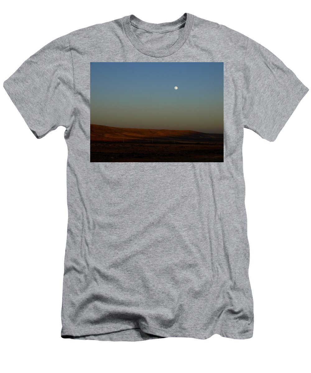 Canary Island Men's T-Shirt (Athletic Fit) featuring the photograph Fuenteventura Moon by Jouko Lehto