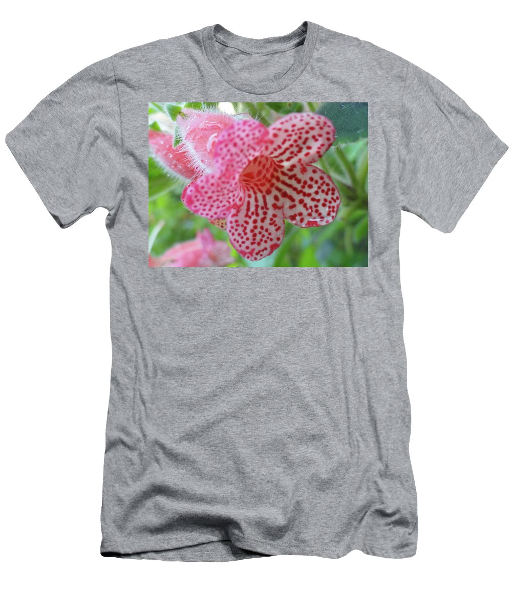 Flowers Men's T-Shirt (Athletic Fit) featuring the photograph Furry Flora by Trish Hale
