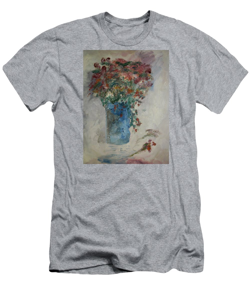 Still Life Men's T-Shirt (Athletic Fit) featuring the painting Gallon Can Florals by Edward Wolverton