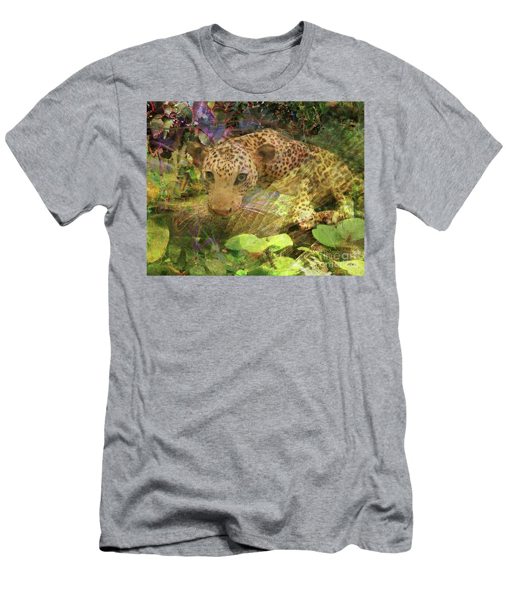 Game Spotting Men's T-Shirt (Athletic Fit) featuring the digital art Game Spotting by John Beck