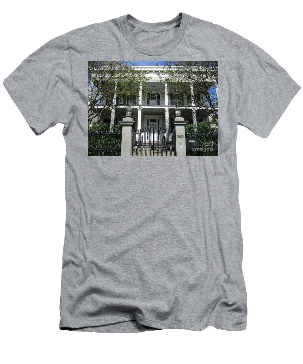 Garden District Men's T-Shirt (Athletic Fit) featuring the photograph Garden District 12 by Randall Weidner