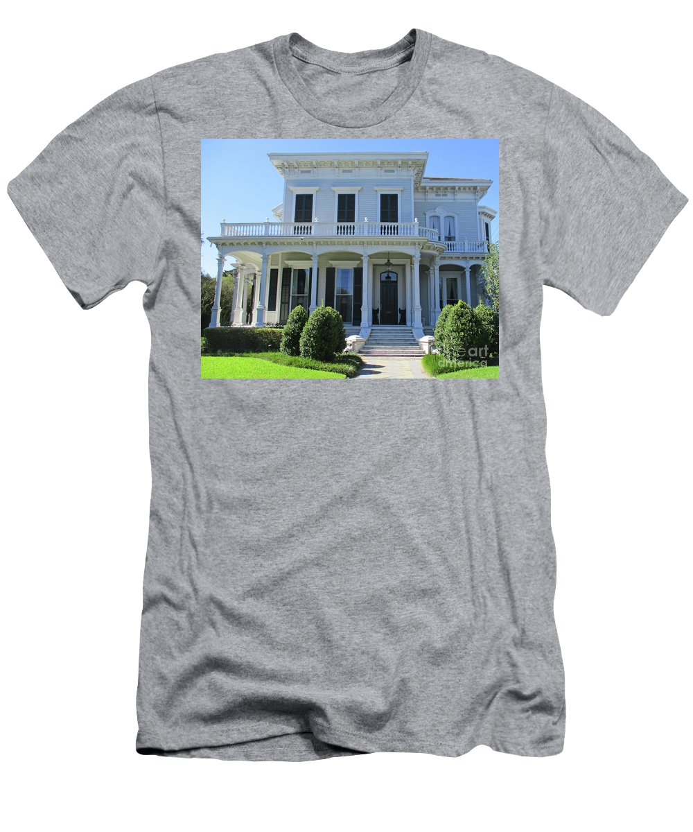 Garden District Men's T-Shirt (Athletic Fit) featuring the photograph Garden District 30 by Randall Weidner