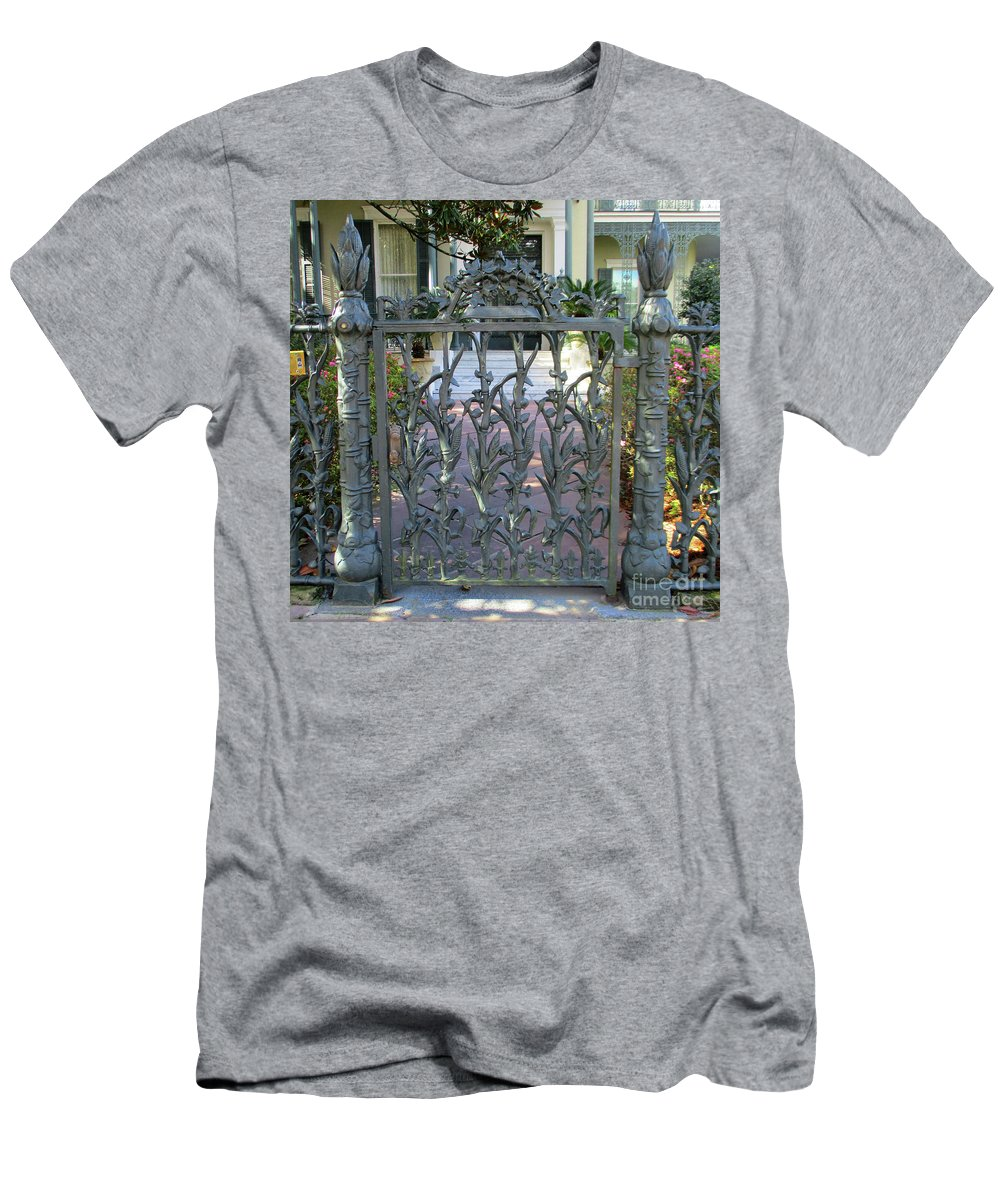 Garden District Men's T-Shirt (Athletic Fit) featuring the photograph Garden District 8 by Randall Weidner