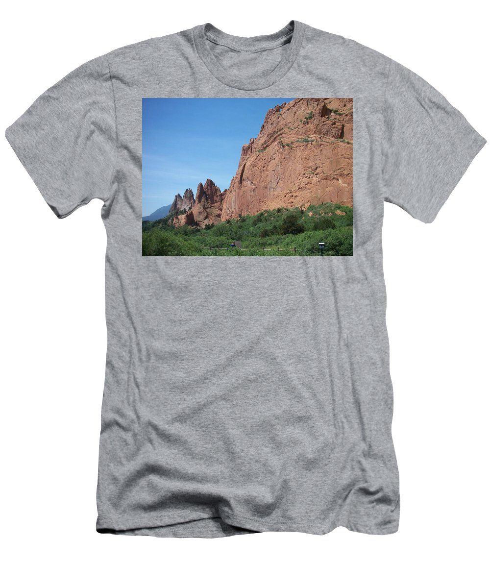 Colorado Men's T-Shirt (Athletic Fit) featuring the photograph Garden Of The Gods by Anita Burgermeister