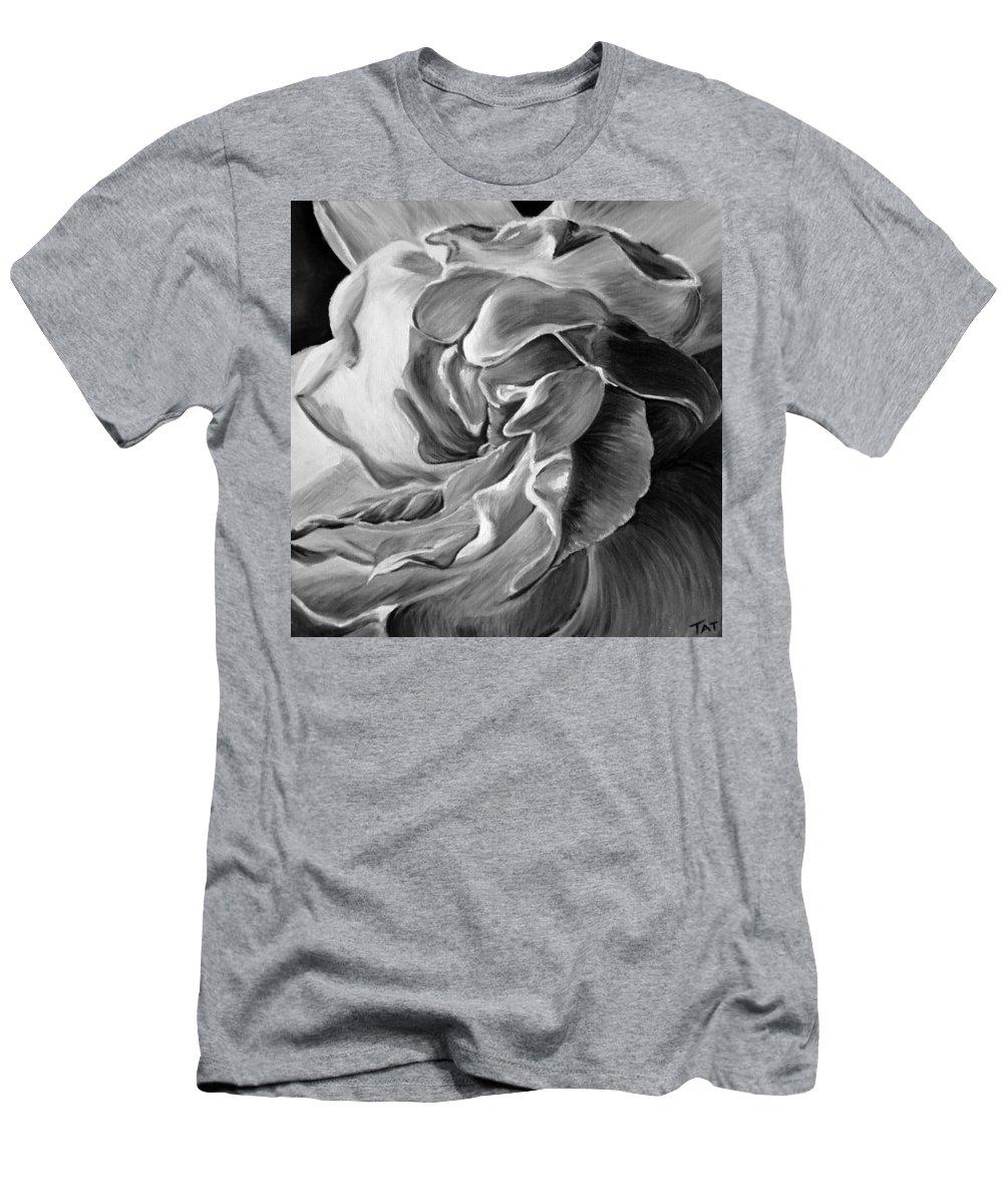 All Men's T-Shirt (Athletic Fit) featuring the painting Gardenia IIi by Tatjana Popovska