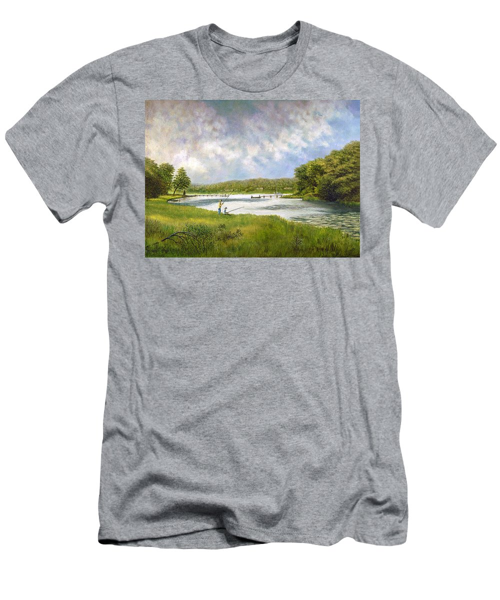 Men's T-Shirt (Athletic Fit) featuring the painting Gathering Clouds by Tony Scarmato
