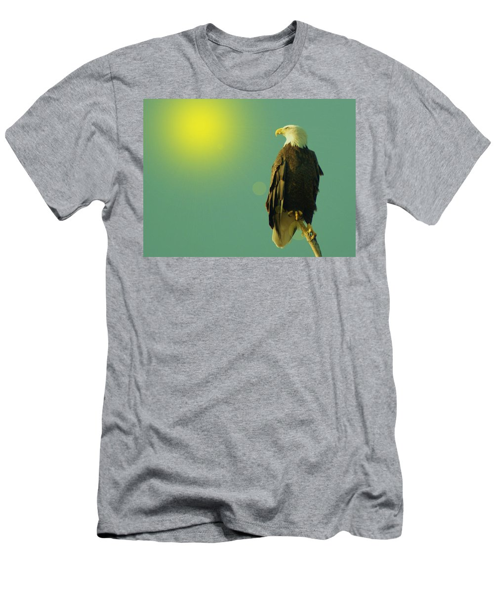 Eagles Men's T-Shirt (Athletic Fit) featuring the photograph Gazing Sunward by Jeff Swan