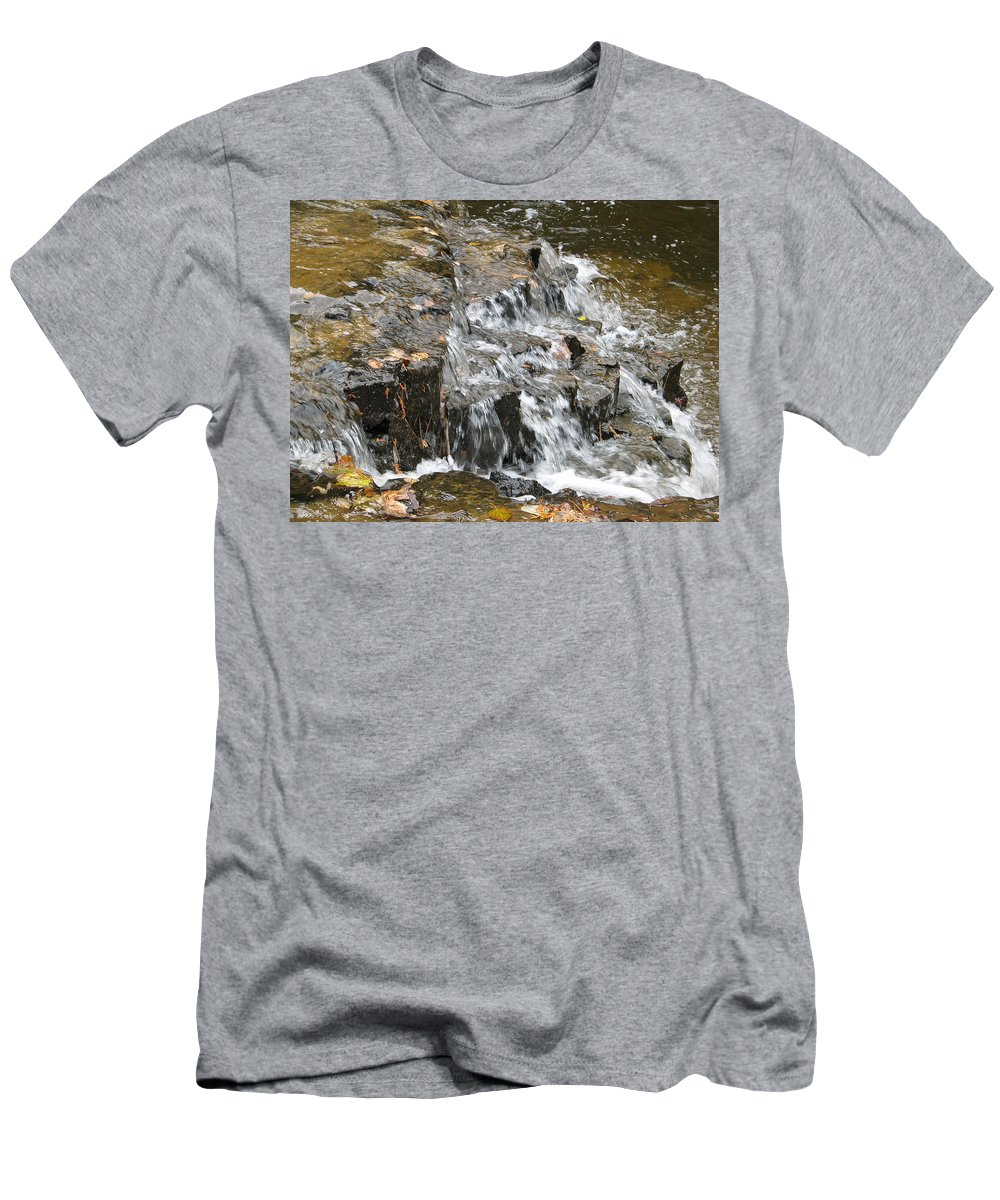 Waterfall Men's T-Shirt (Athletic Fit) featuring the photograph Gentle Falls by Kelly Mezzapelle