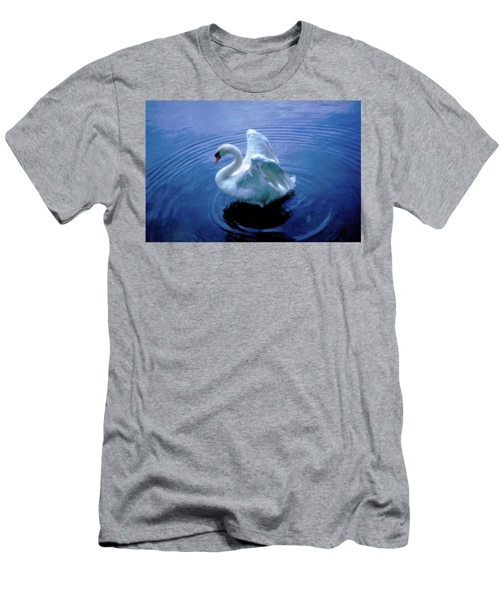 Swan Men's T-Shirt (Athletic Fit) featuring the photograph Gentle Strength by Marie Hicks
