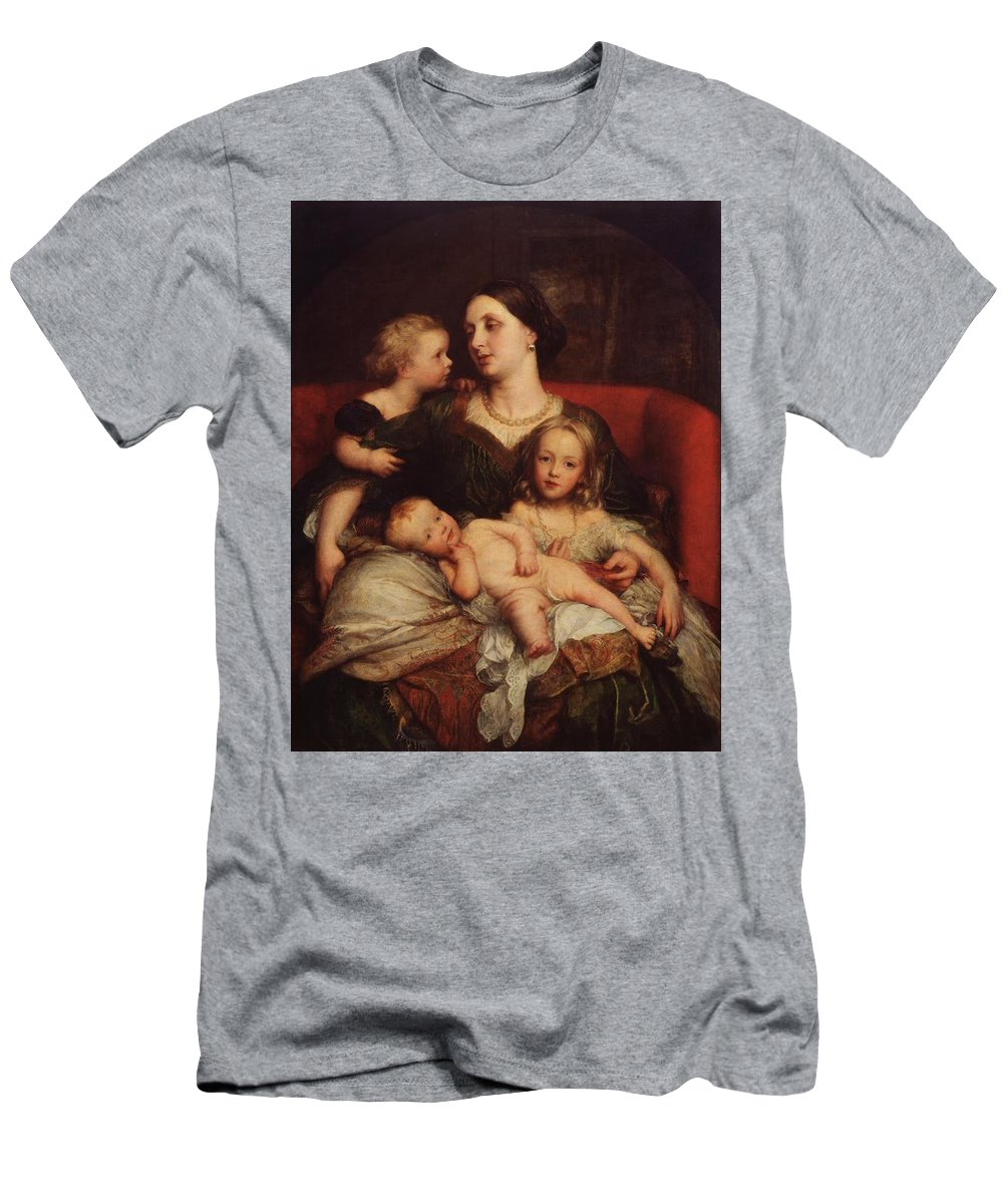 George Frederic Watts (1817‑1904) Mrs George Augustus Frederick Cavendish-bentinck And Her Children Men's T-Shirt (Athletic Fit) featuring the painting George Augustus Frederick Cavendish by MotionAge Designs