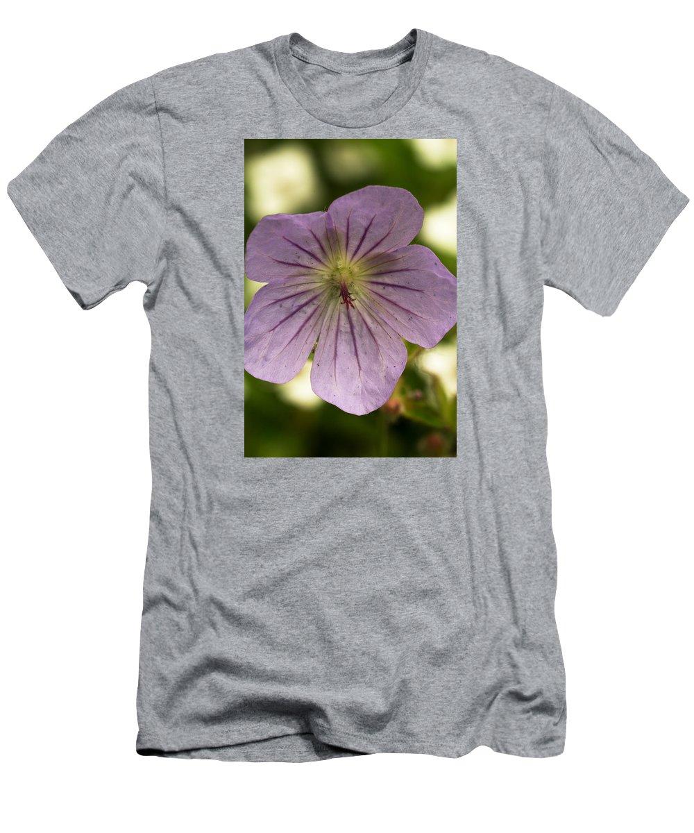 Nature Photography Men's T-Shirt (Athletic Fit) featuring the photograph Geranium II by Amanda Kiplinger