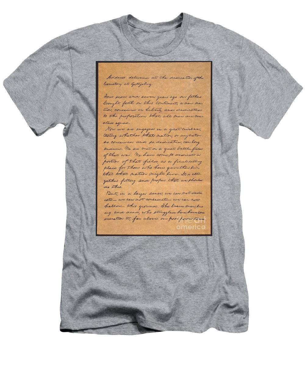 1863 Men's T-Shirt (Athletic Fit) featuring the photograph Gettysburg Address by Granger