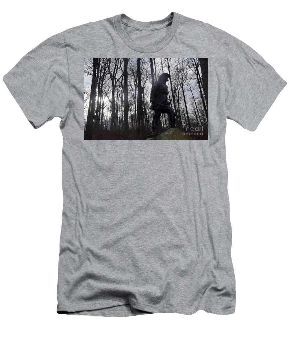Battle Men's T-Shirt (Athletic Fit) featuring the photograph Devil's Den by Broken Soldier