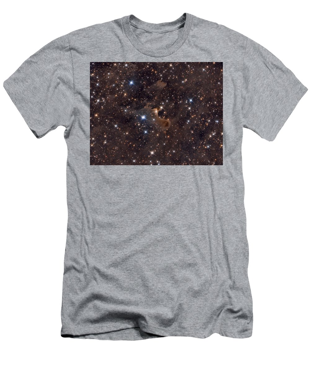 Space Men's T-Shirt (Athletic Fit) featuring the photograph Ghost Nebula by Arturas Medvedevas