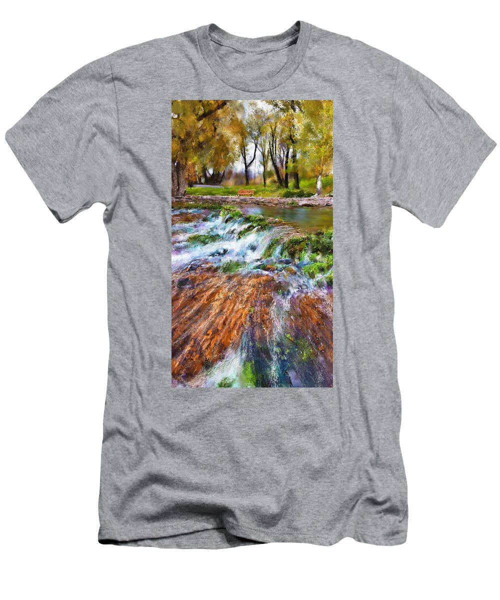 Giant Springs T-Shirt featuring the digital art Giant Springs 2 by Susan Kinney