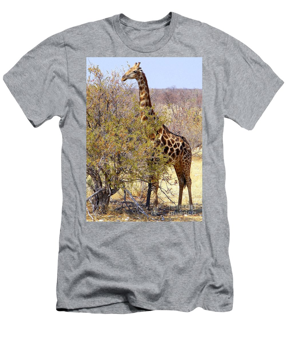 Most Popular Men's T-Shirt (Athletic Fit) featuring the photograph Giraffe by Noa Yerushalmi