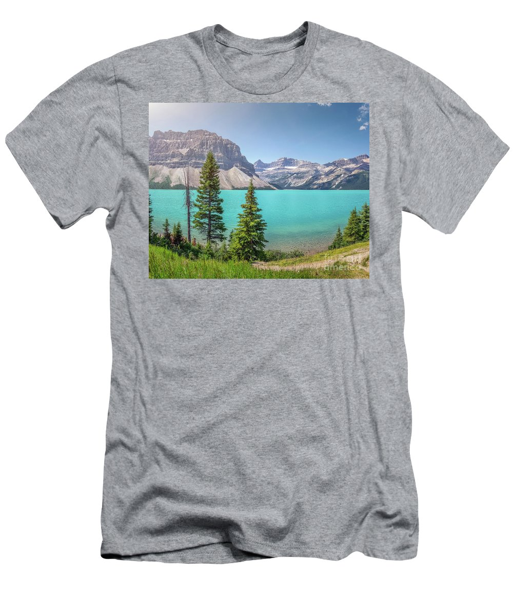 Alberta Men's T-Shirt (Athletic Fit) featuring the photograph Glacial Colors by JR Photography