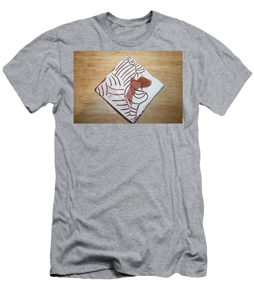 Jesus Men's T-Shirt (Athletic Fit) featuring the ceramic art Glad - Tile by Gloria Ssali