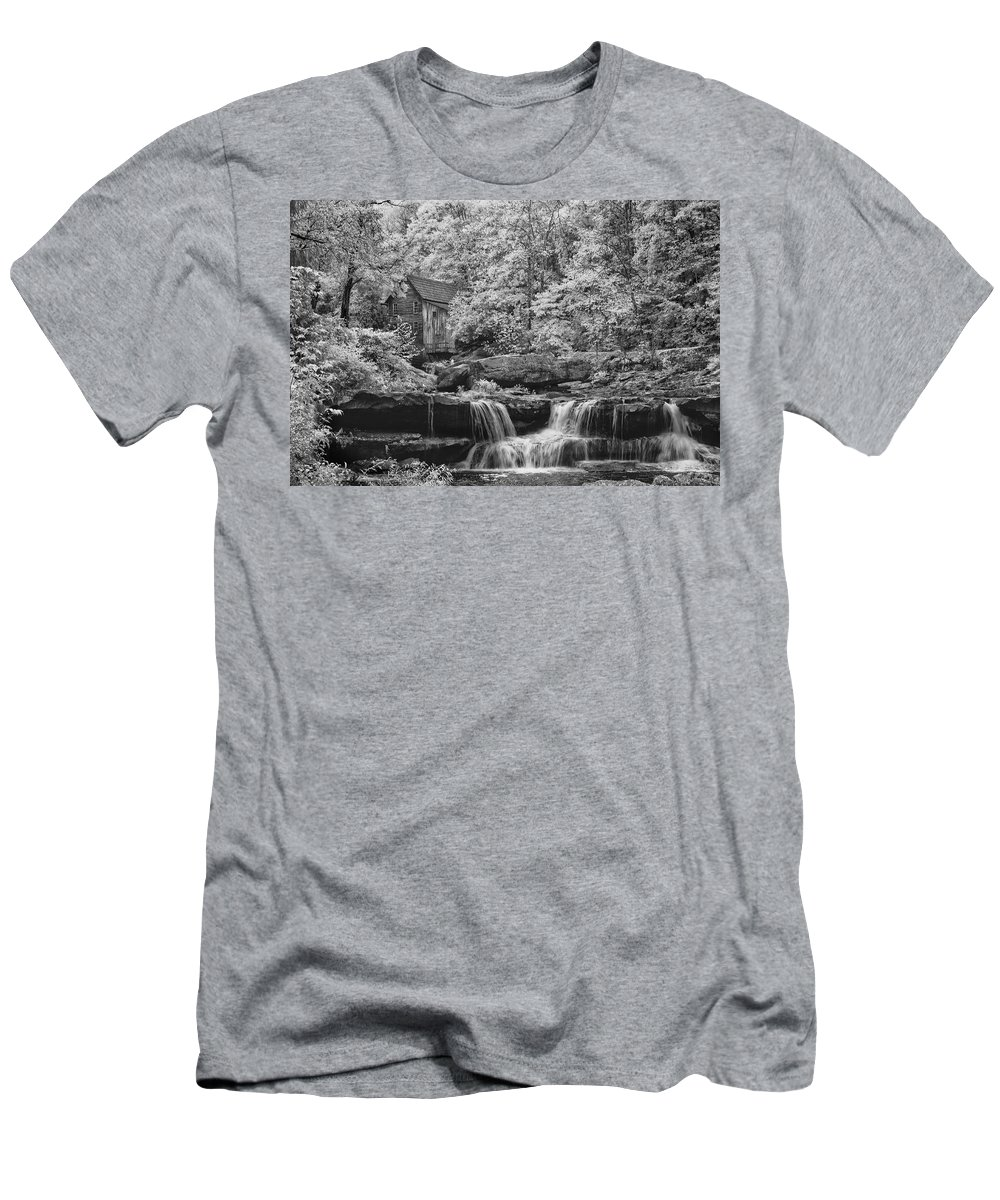 Glade Creek Mill Men's T-Shirt (Athletic Fit) featuring the photograph Glade Creek Mill by Emil Davidzuk