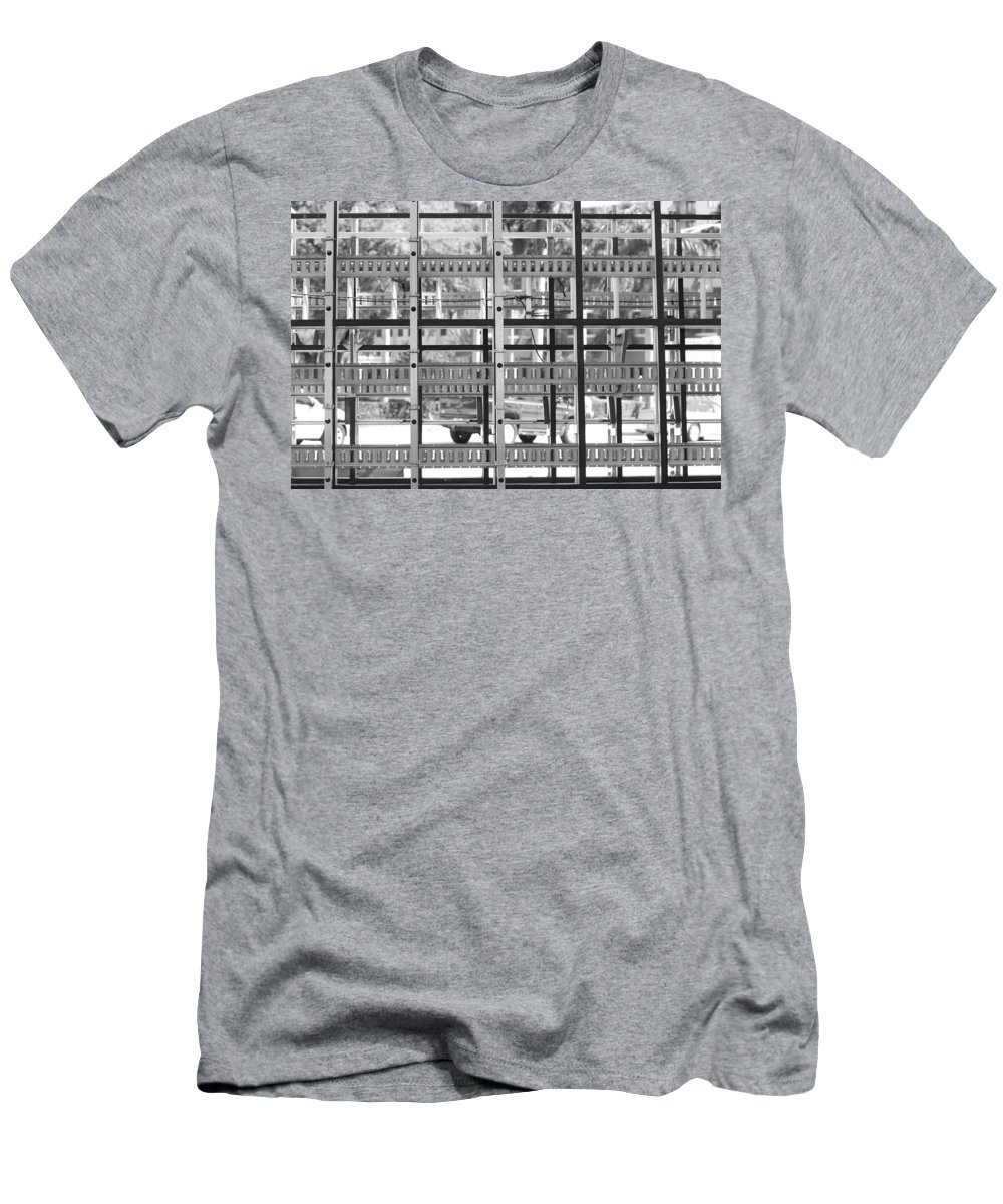 Black And White Men's T-Shirt (Athletic Fit) featuring the photograph Glass Holders by Rob Hans