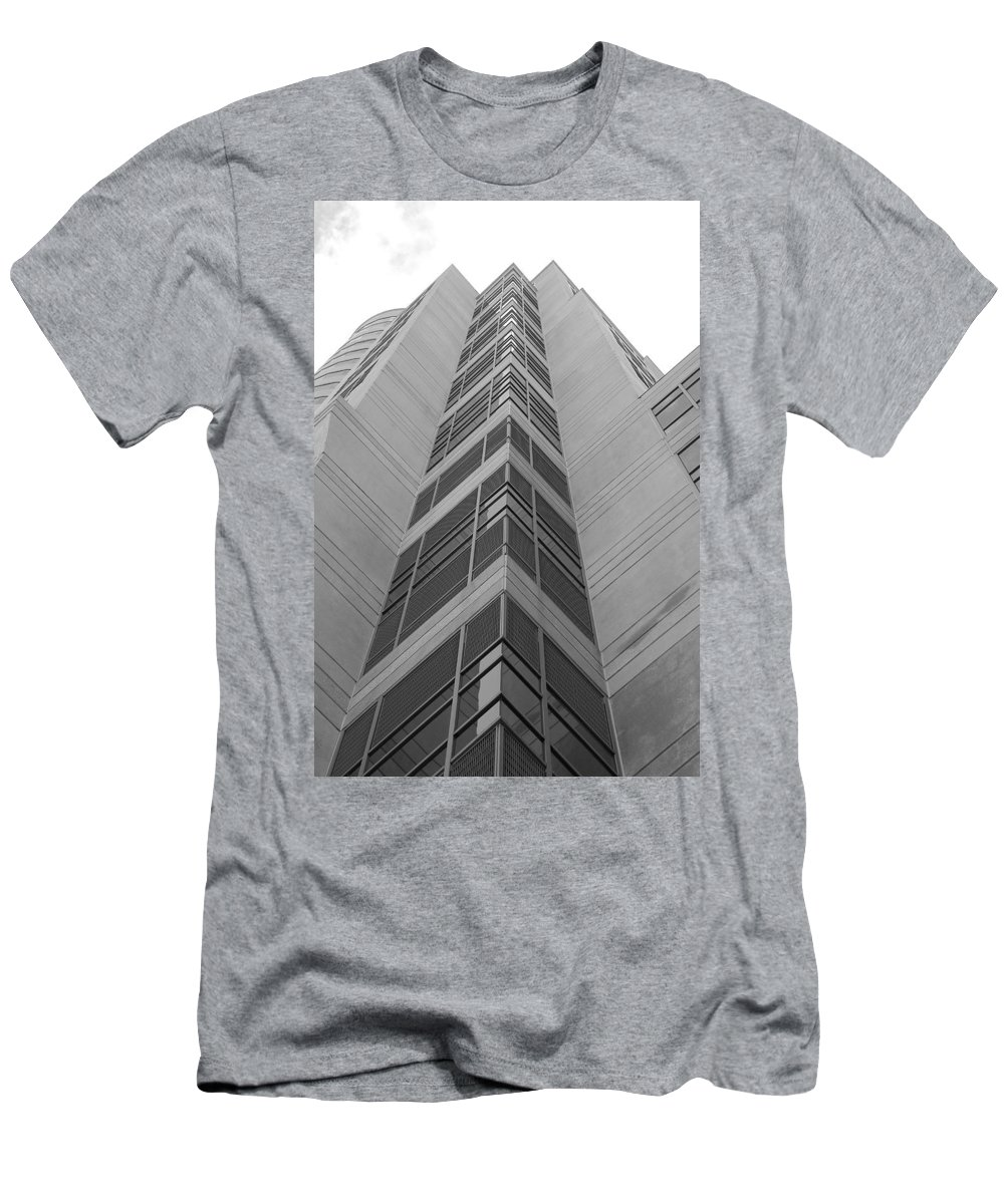 Architecture Men's T-Shirt (Athletic Fit) featuring the photograph Glass Tower by Rob Hans