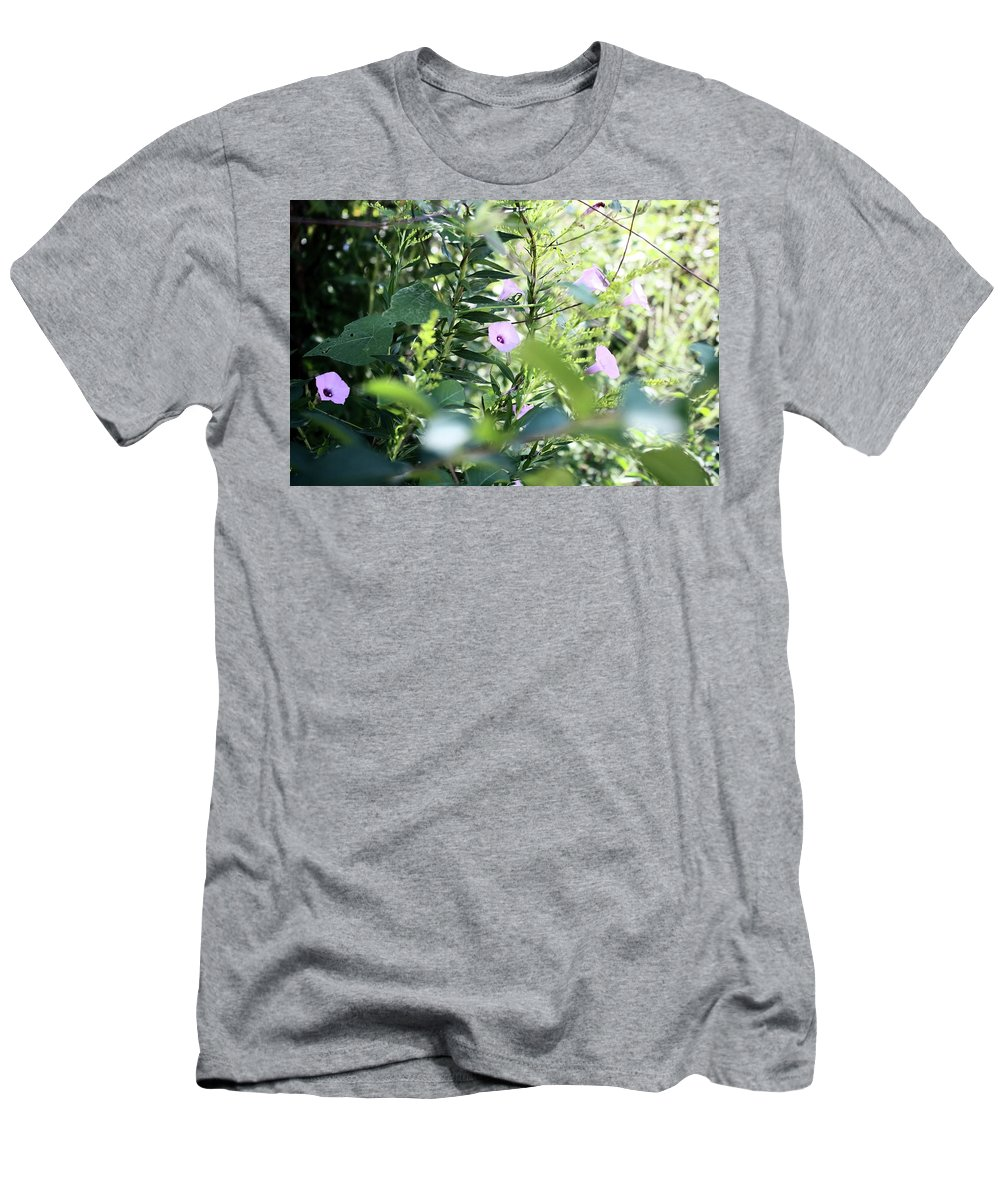 Flowers Men's T-Shirt (Athletic Fit) featuring the photograph Glory In The Morning Sun 2016 by Phillip McKnight