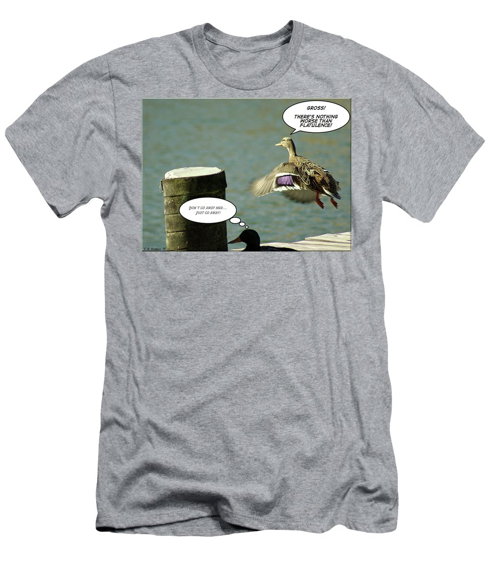 2d Men's T-Shirt (Athletic Fit) featuring the photograph Go Away Mad by Brian Wallace