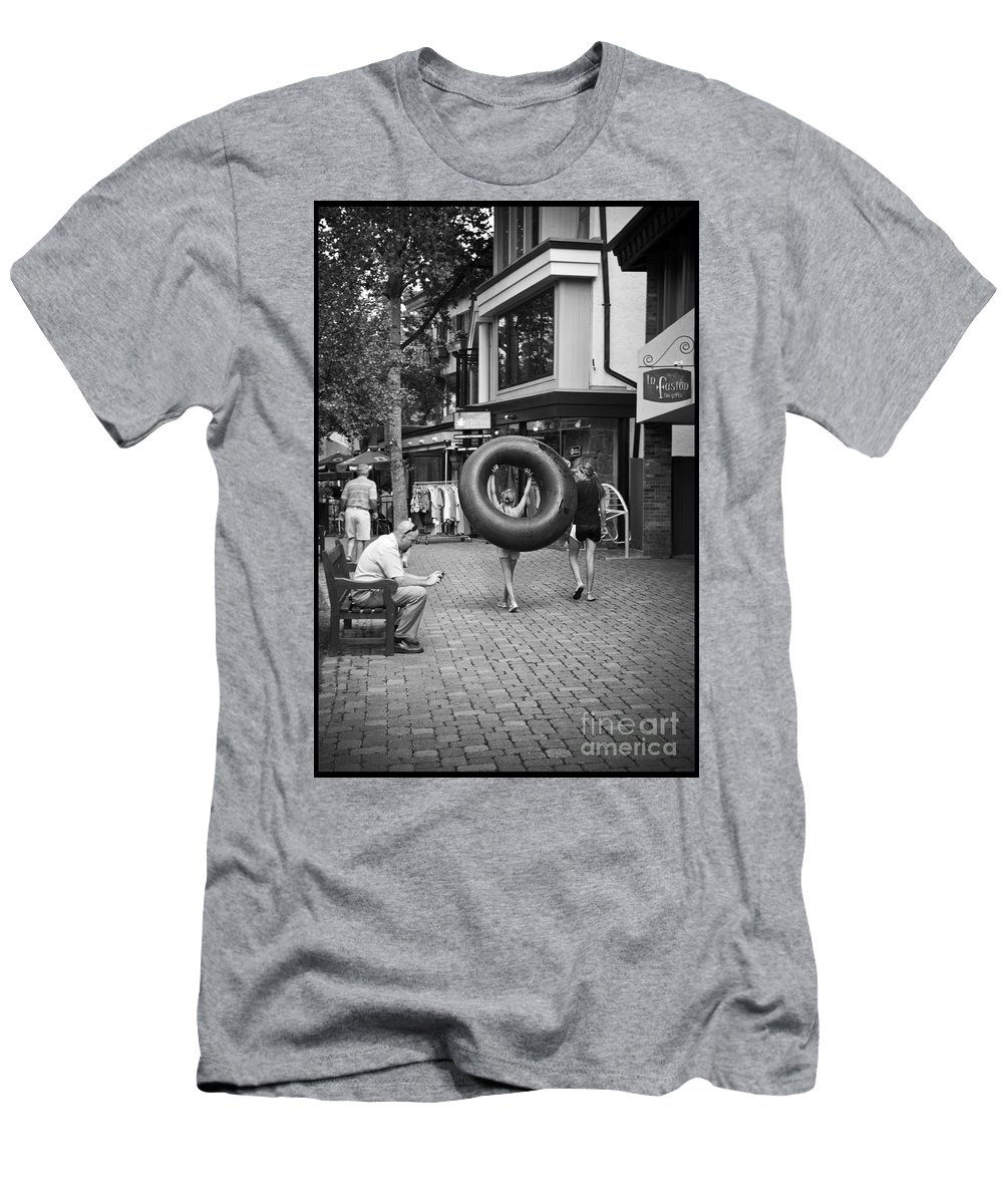 Tubing Men's T-Shirt (Athletic Fit) featuring the photograph Going To The Water by Madeline Ellis