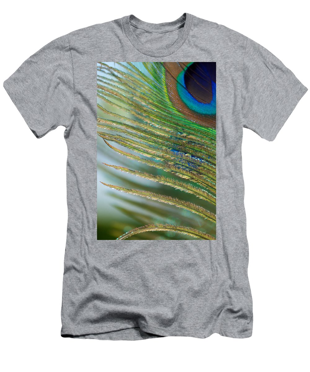 Golden Men's T-Shirt (Athletic Fit) featuring the photograph Golden Feather by Lisa Knechtel