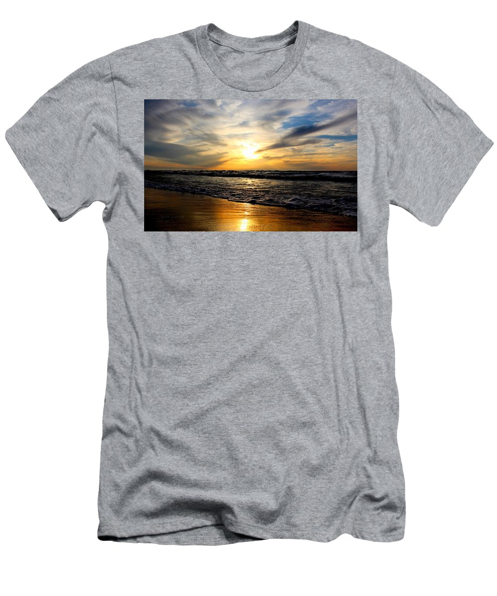 Grand Bend Men's T-Shirt (Athletic Fit) featuring the photograph Golden Shore's 2 by John Scatcherd