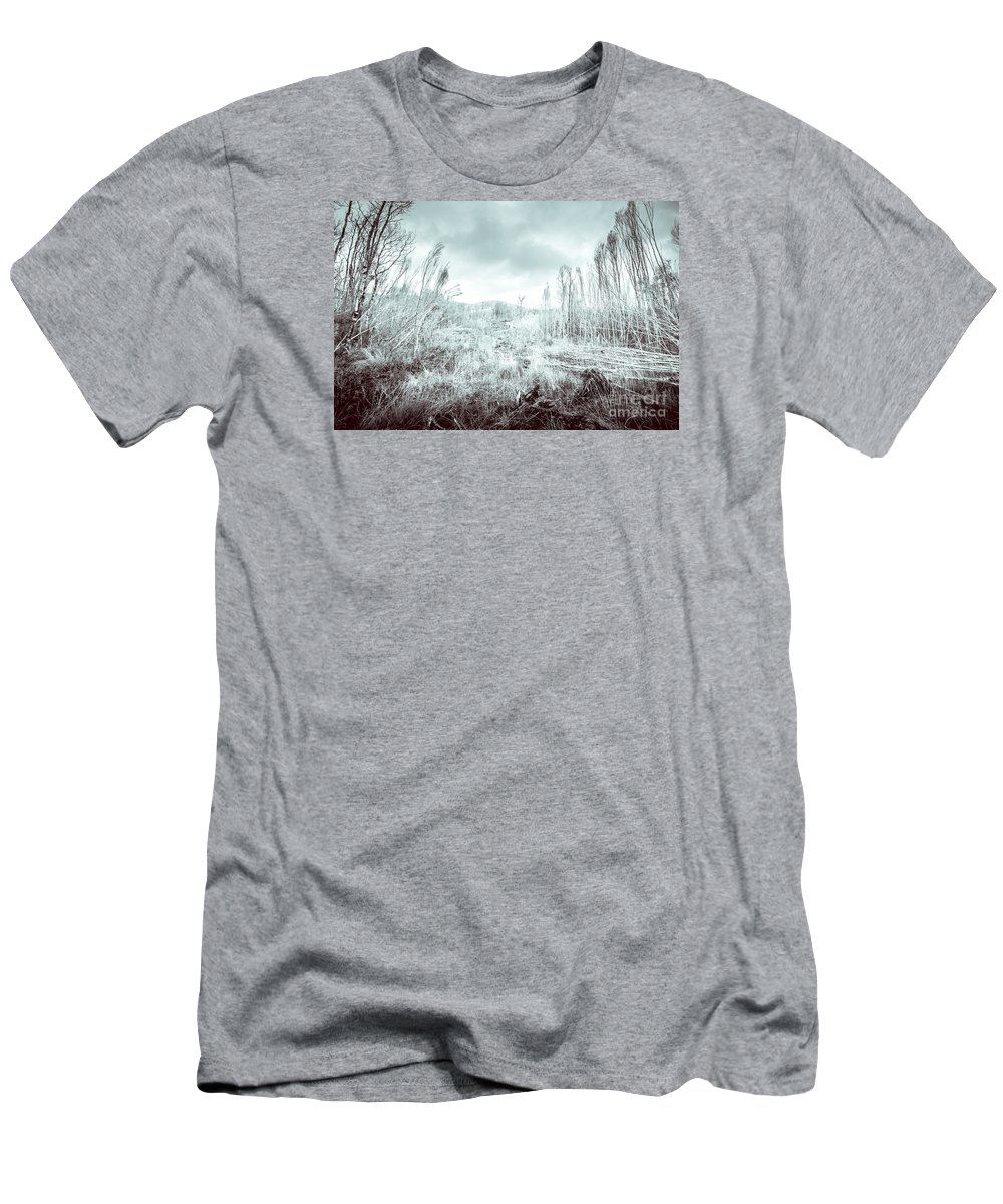 Ice Men's T-Shirt (Athletic Fit) featuring the photograph Gormanston Snowscape by Jorgo Photography - Wall Art Gallery