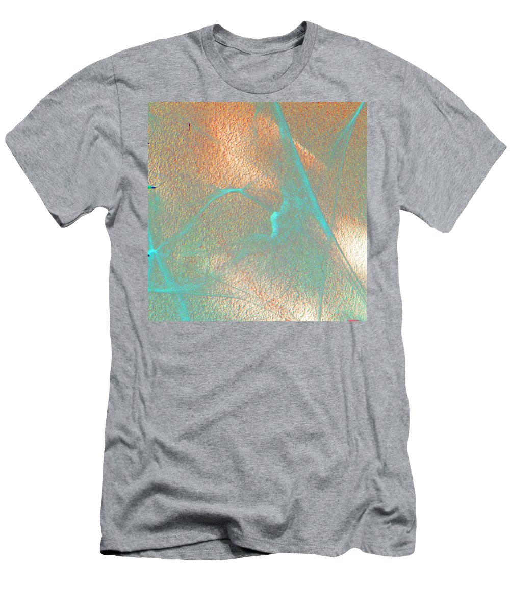 Abstract Men's T-Shirt (Athletic Fit) featuring the digital art Gossamer Abstract by Lenore Senior