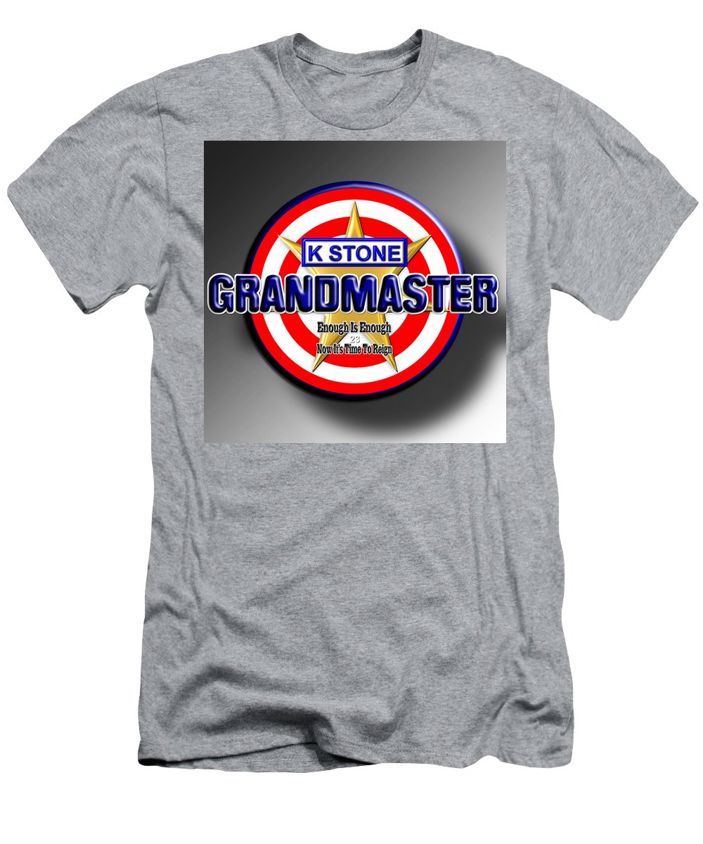 Grand Master Men's T-Shirt (Athletic Fit) featuring the digital art Grandmaster by K STONE UK Music Producer