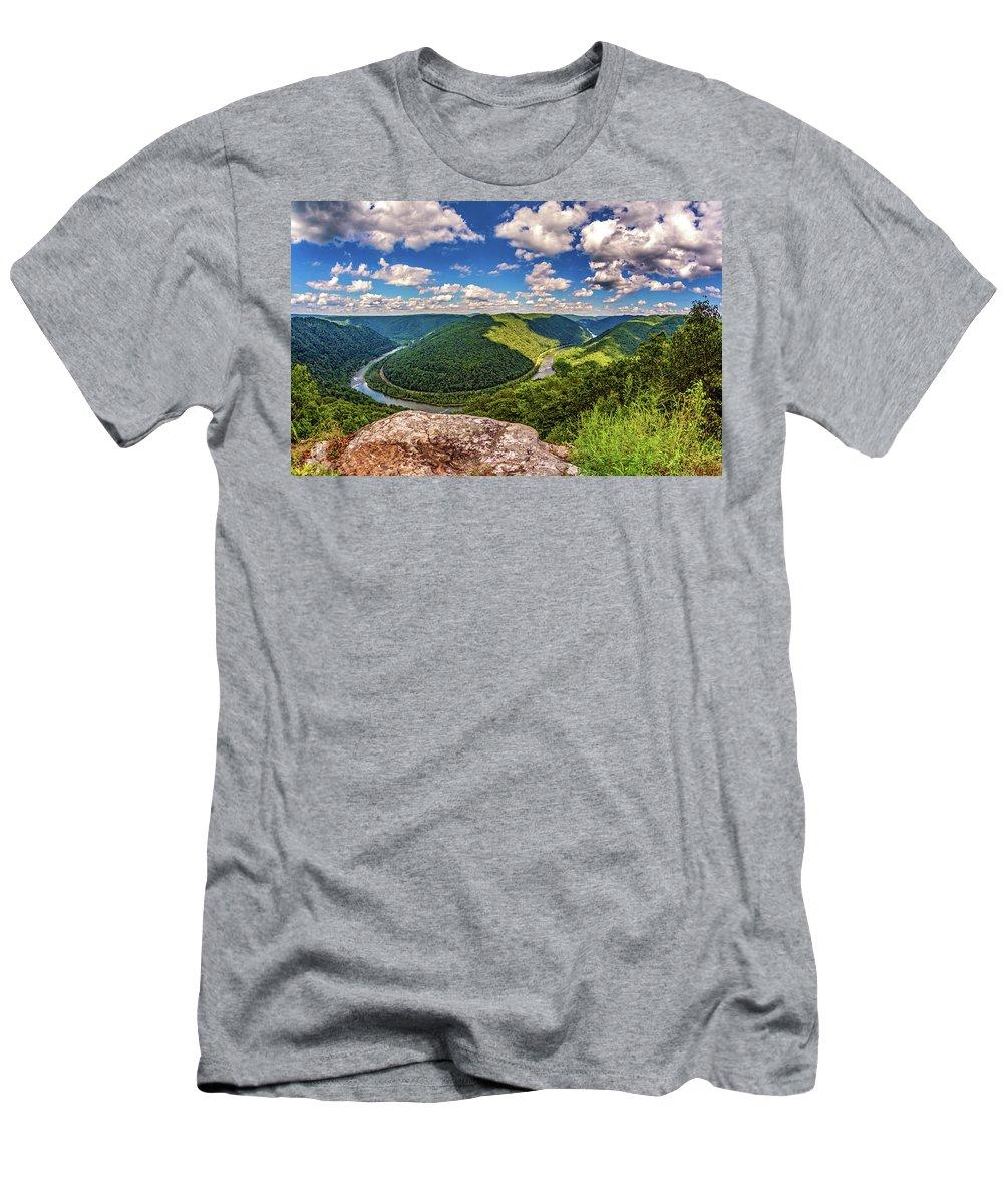 Steve Harrington Men's T-Shirt (Athletic Fit) featuring the photograph Grandview West Virginia by Steve Harrington
